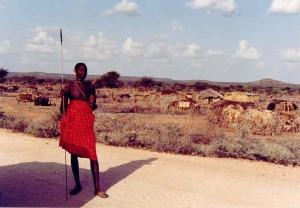 Samburu hitch-hiker Kenya