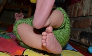 green knit wool soaker