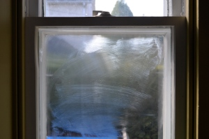 butter on my window for the ecloth vs norwex butter test