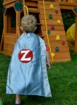 easy super hero cape - action shot 1
