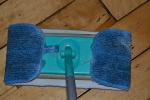 ecloth washable and reusable damp mop microfiber pad on Swiffer
