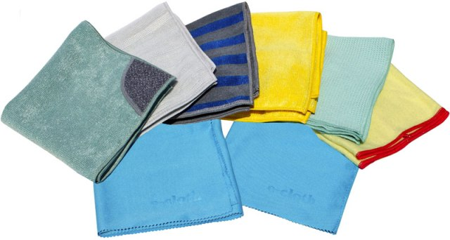 ecloth total package includes all the e-cloth specialized microfiber cleaning cloths