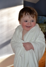 Kids love the e-body luxury bath towel