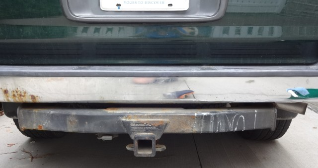 some rust on left side of bumper