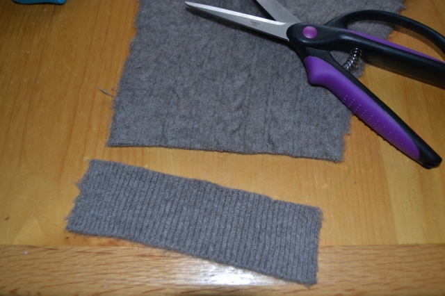 Cut off ribbing and cuffs