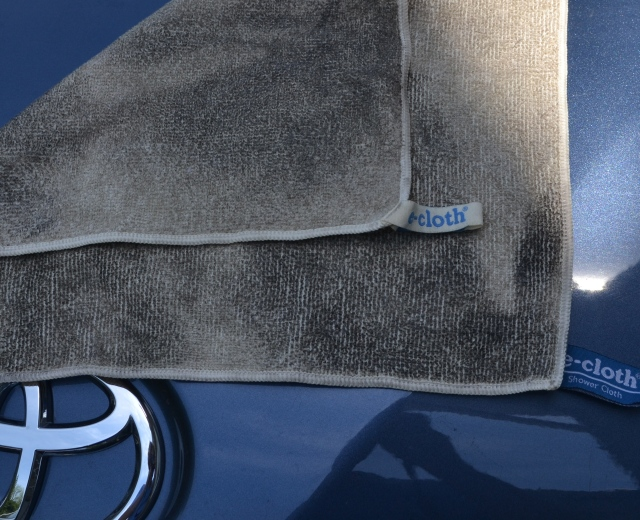 e-cloth cleans cars