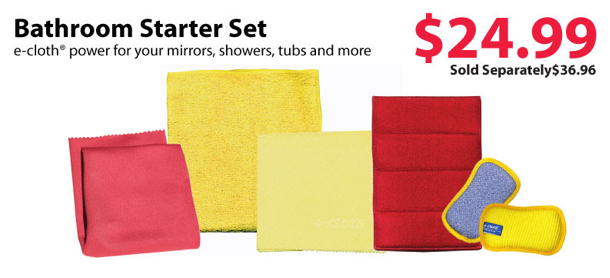ecloth bathroom Starter Set