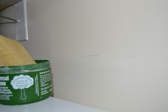 Scuff mark on wall