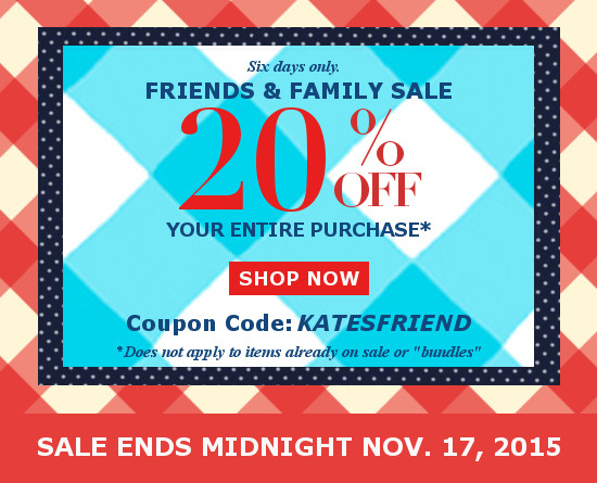ecloth friends and family sale