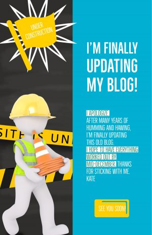 kate's ecloth blog is under construction